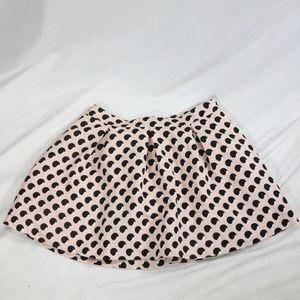 FOREVER 21 Pale Pink Pleated A-Line Mini Skirt
